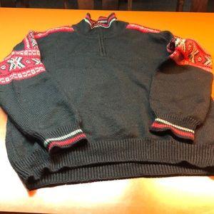 Columbia wool 3/4 zip ski sweater, size large
